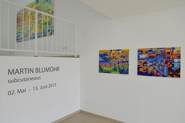 Blick in Ausstellung Galerie Anette Müller Düsseldorf